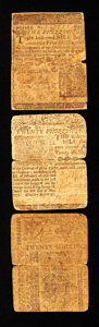 Colonial Notes:Delaware, Delaware Colonial Group Lot. Three Examples. . ...