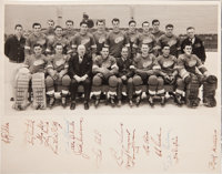 1952 Detroit Red Wings Team Signed Oversized Presentational Photograph