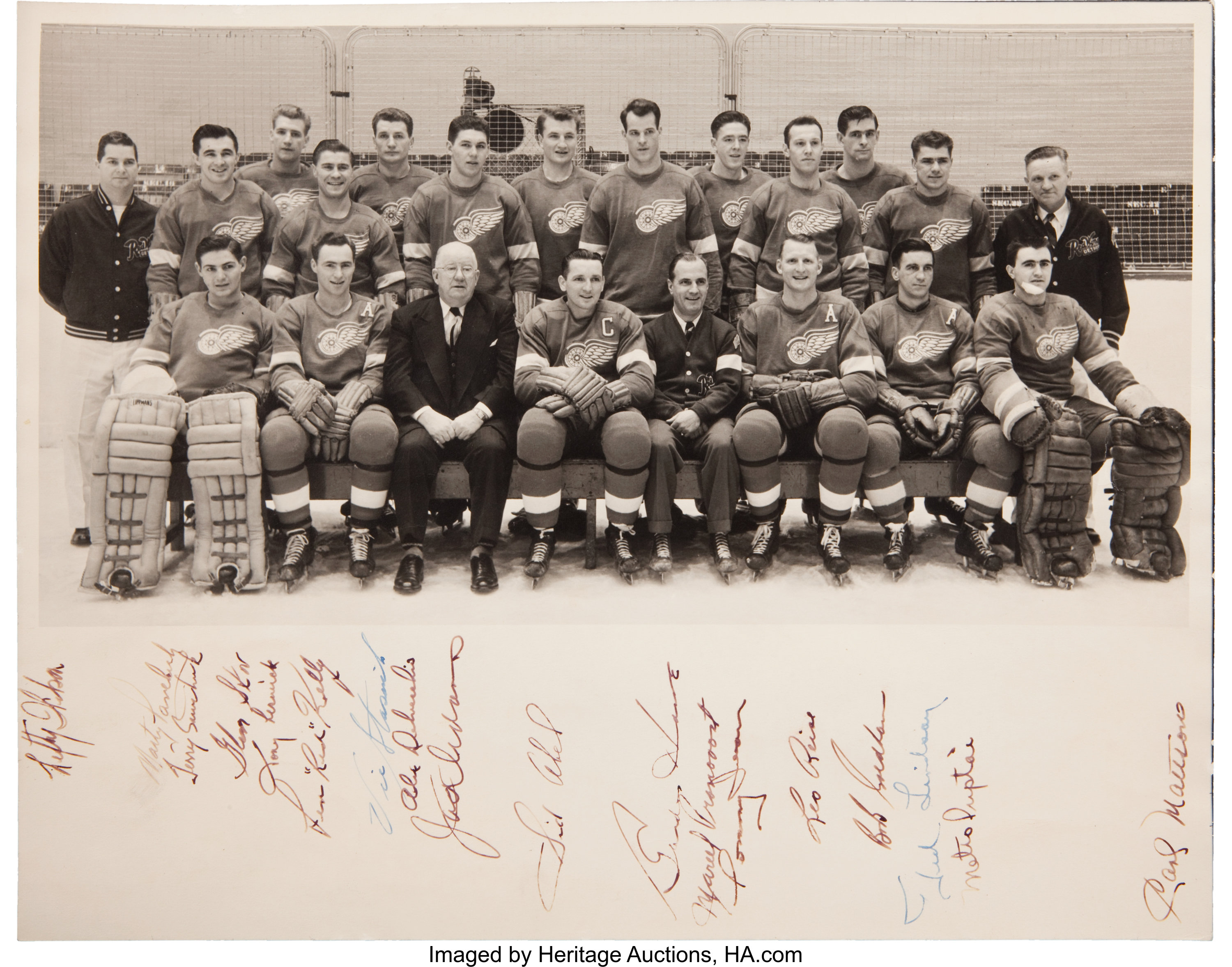 cheap for discount debae 9307c 1952 Detroit Red Wings Team Signed Oversized Presentational ...