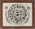 "Boxing Collectibles:Memorabilia, 1906 ""Stars of the Prize Ring"" Advertising Sign...."