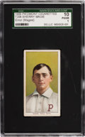 "Baseball Cards:Singles (Pre-1930), 1909-11 T206 Piedmont Sherry Magee ""MAGIE"" Error SGC 10 Poor 1. ..."