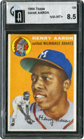 Baseball Cards:Singles (1950-1959), 1954 Topps Hank Aaron #128 GAI NM-MT+ 8.5....