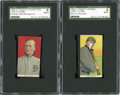 Baseball Cards:Lots, 1909-11 T206 White Borders Ty Cobb SGC-Authentic Pair (2). ...
