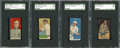 Baseball Cards:Lots, 1910-11 T206 and W516 Baseball Hall of Famers SGC-Authentic Groupof (4) With Cobb. ...