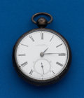 Timepieces:Pocket (pre 1900) , A.C. Ross Zanesville Ohio, Recased Lever Fusee. ...