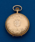 Timepieces:Pocket (post 1900), Waltham 14k O Size Hunters Case. ...