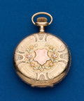 Timepieces:Pocket (post 1900), Waltham 12 Size 14k Multicolor Hunters Case. ...