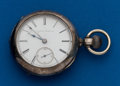 Timepieces:Pocket (pre 1900) , Illinois, 18 Size, 11 Jewel Silver Transitional. ...