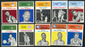 Basketball Cards:Lots, 1961-62 Fleer Basketball Collection (10). ...