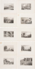 Antiques:Posters & Prints, Nineteen Engraved Plates of Buildings. London, ca. 1870. Engravingsof grand buildings from around the world. Each plate mea... (Total:19 Items)
