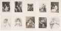 Antiques:Posters & Prints, Twenty-nine Engraved Plates of Women and Children. London: Fisher,Son, and Co., ca. 1845. Each plate measures 8.5 inches x ...(Total: 29 Items)