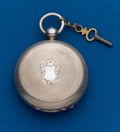 Timepieces:Pocket (pre 1900) , Waltham, Model 57, 15 Jewel, Key Wind, 4 1/2 oz. Coin Case. ...