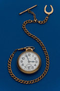 Timepieces:Pocket (post 1900), Elgin, 16 Size, 21 Jewel, B.W. Raymond With Chain. ...