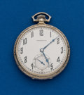 Timepieces:Pocket (post 1900), Hamilton, 14k White Gold, Grade 918, 12 Size. ...