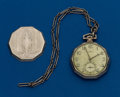 Timepieces:Pocket (post 1900), Illinois, Gold Filled, 17 Jewel, 12 Size With Chain. ...