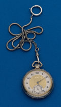 Timepieces:Pocket (post 1900), Illinois, Gold Filled, 16 Size, 17 Jewel With Chain. ...