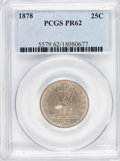 Proof Seated Quarters: , 1878 25C PR62 PCGS. PCGS Population (38/117). NGC Census: (14/122).Mintage: 800. Numismedia Wsl. Price for problem free NG...