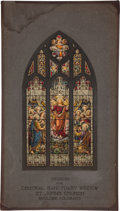 Antiques:Posters & Prints, [Painting]. F. G. Wiedemann. Study for Stained Glass Window, Central Sanctuary, St. John's Church, Boulder, Colorado, ca...