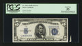 Error Notes:Obstruction Errors, Fr. 1652 $5 1934B Silver Certificate. PCGS About New 53.. ...