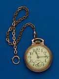 Timepieces:Pocket (post 1900), Elgin, 17 Jewel, Grade 616 With Chain. ...