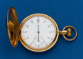 Timepieces:Pocket (post 1900), Tiffany 17 Jewel 16 Size Gold Filled Hunters Case Pocket Watch. ...
