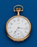 Timepieces:Pocket (post 1900), Howard, 14k, 17 Jewel, 12 Size. ...