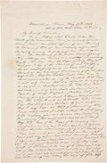 Autographs:Artists, John J. Audubon Autograph Letter Signed. One and one-quarter pages with integral address leaf, penned on recto and verso of ...