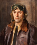 Mainstream Illustration, WALDO MURRAY (American, 20th Century). Bomber Pilot. Oil oncanvas. 24 x 20 in.. Signed lower right. From the Estate...