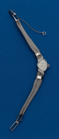 Timepieces:Wristwatch, Girard Perregaux, Diamond & White Gold Bracelet Wristwatch. ...