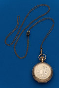 Timepieces:Pocket (post 1900), Illinois Gold Filled With Slide Chain, 6 Size, 11 Jewel HuntersCase. ...