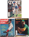 Baseball Collectibles:Publications, Hall of Fame Pitchers Signed Magazines Lot of 3....