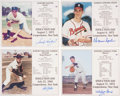 Baseball Collectibles:Photos, Hall of Fame Pitchers Signed Photographs Lot of 4....