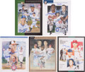 Baseball Collectibles:Publications, National Baseball Hall of Fame and Museum Yearbooks Signed Lot of5....