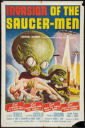 "Movie Posters:Science Fiction, Invasion of the Saucer-Men (American International, 1957). One Sheet (27"" X 40.5""). Science Fiction.. ..."