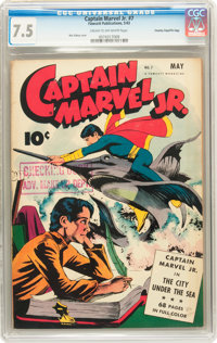 Captain Marvel Jr. #7 Crowley/File Copy (Fawcett, 1943) CGC VF- 7.5 Cream to off-white pages