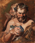 Paintings, EDMUND F. WARD (American, 1892-1991). Satyrs. Oil on board. 20 x 16 in.. Not signed. From the Estate of Charles Mart...