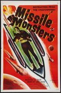 """Movie Posters:Science Fiction, Missile Monsters (Republic, 1958). One Sheet (27"""" X 41"""") Flat Folded. Science Fiction.. ..."""