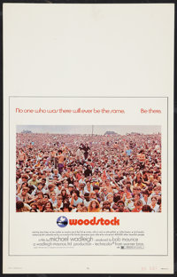 "Woodstock (Warner Brothers, 1970). Window Card (14"" X 22""). Rock and Roll"