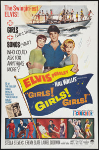 "Girls! Girls! Girls! (Paramount, 1962). One Sheet (27"" X 41""). Elvis Presley"