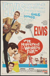 "It Happened at the World's Fair (MGM, 1963). One Sheet (27"" X 41""). Elvis Presley"