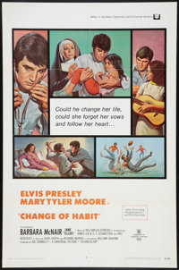 "Change of Habit (Universal, 1969). One Sheet (27"" X 41""). Elvis Presley"
