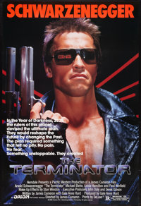 "The Terminator (Orion, 1984). One Sheet (27"" X 40""). Science Fiction"