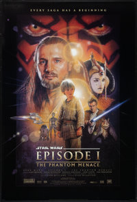 "Star Wars: Episode I - The Phantom Menace (20th Century Fox, 1999). One Sheet (26.75"" X 39.75"") DS Style B. Sc..."