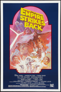 "The Empire Strikes Back (20th Century Fox, R-1982). One Sheet (27"" X 41""). Science Fiction"