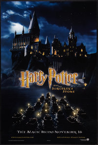 """Harry Potter and the Sorcerer's Stone (Warner Brothers, 2001). One Sheet (27"""" X 40"""") DS Advance Style B. Fanta..."""