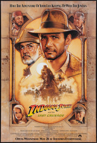 "Indiana Jones and the Last Crusade (Paramount, 1989). One Sheet (27"" X 40"") SS Advance Style B. Action"