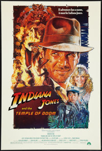 "Indiana Jones and the Temple of Doom (Paramount, 1984). One Sheet (27"" X 40""). Adventure"