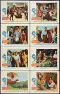 """Movie Posters:Adventure, Five Weeks in a Balloon (20th Century Fox, 1962). Lobby Card Set of 8 (11"""" X 14""""). Adventure.. ... (Total: 8 Items)"""