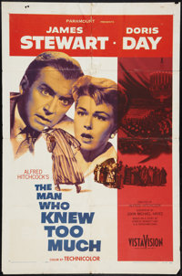 """The Man Who Knew Too Much (Paramount, 1956). One Sheet (27"""" X 41""""). Hitchcock"""