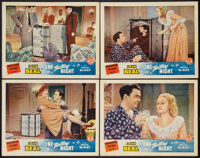 "One Thrilling Night (Monogram, 1942). Lobby Cards (4) (11"" X 14""). Comedy. ... (Total: 4 Items)"